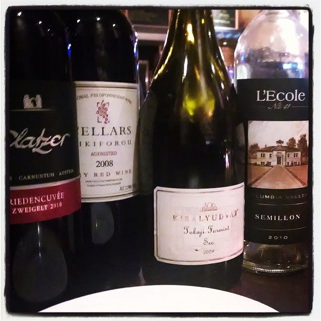 Tonight's lineup. One more left, then I'll announce my fave #DCWineWeek (at The Coupe)