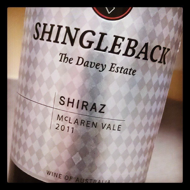 Nothing a lil Shiraz won't fix!! Shingleback The Davy Estate.        Deep red in color, full bodied. Notes of blackberry and strawberry hit you up front, then mellow out with spices and some Aussie minerality. 14mos in French and American oak. #wine #redwine #Shiraz #goodwinegoodnite