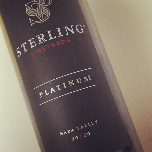 After a week of cocktails, this is gonna hit the spot!! 09 Sterling Vineyards Napa Cab - dark berry, that and mocha. Aged 18mos in oak #NapaRocks #wineauxatheart