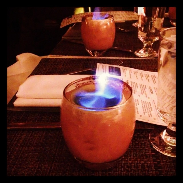 Big Nose Goes To Mexico  #tequila #cocktails #drinks #fire  (at Mercadito)