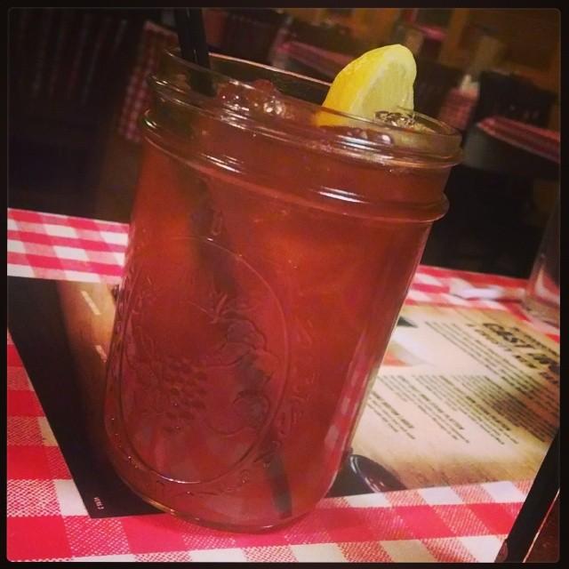 Fire-N-Ice Tea - Firefly peach moonshine, fireball whiskey, ice tea & lemon juice