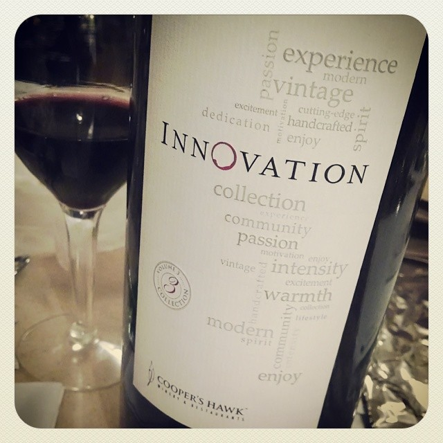 Innovation - A fruity red blend from Cooper's Hawk Winery #DrinkLocal