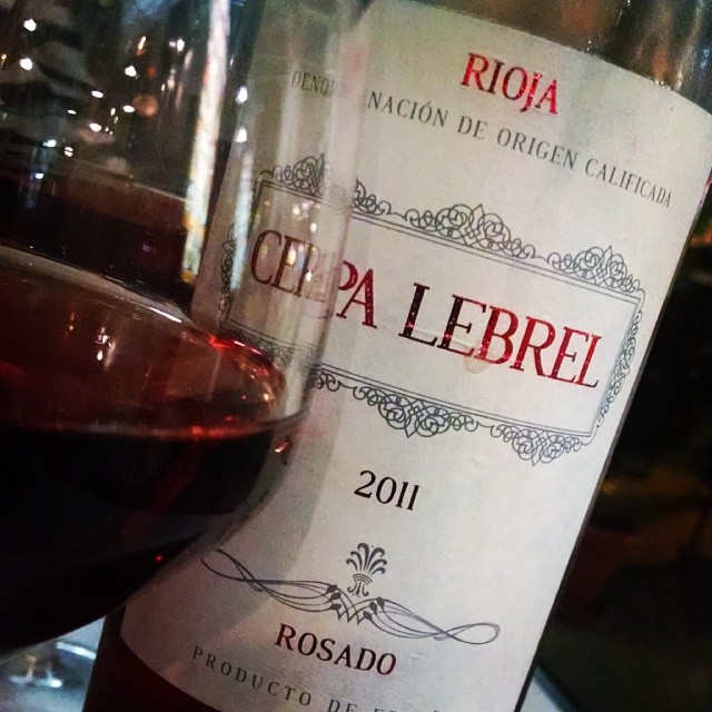 Rosada from Rioja. Extremely food friendly with its fresh acidity and bright red fruit flavors #drinkSpain #GMGRoadtrip #Mallorca