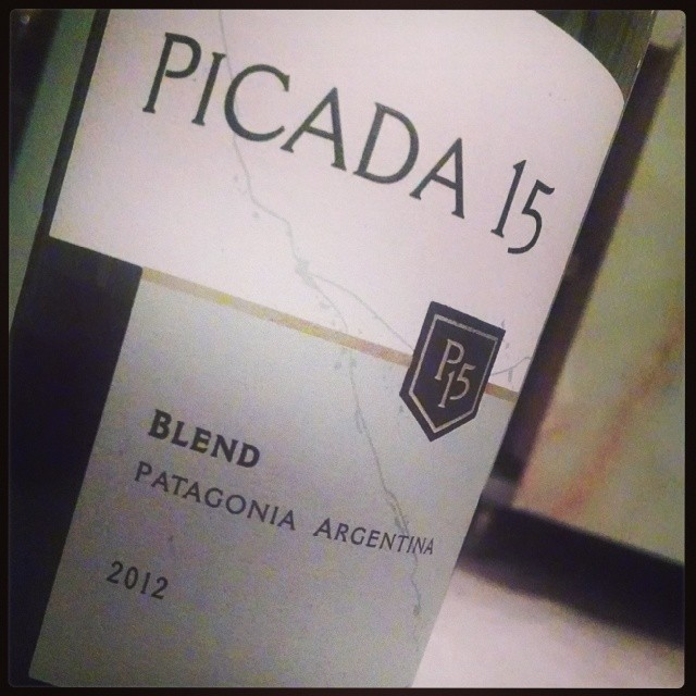 Tonight's 'Under $10' wine - Picada 15, a red blend from Patagonia. Cab Sauv, Merlot, Malbec, Pinot Noir. Dark berry fruit and spice on the palate. Med tannins w/ hints of vanilla on the finish. 14.5% alc. Solid choice to end the day #under10 #GMGValuePic #wine  (at Witness Protection)