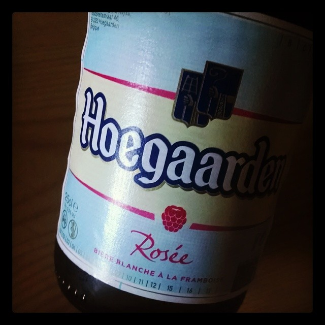 Didn't know they did a rosèe. I'm here for it though!! #hoegaarden #beer #belgian #framboise (at Paris 14e Plaisance)