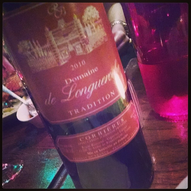 To pair with my burger. Cuz it's France. And I can. #redwine  (at Café Fusain)