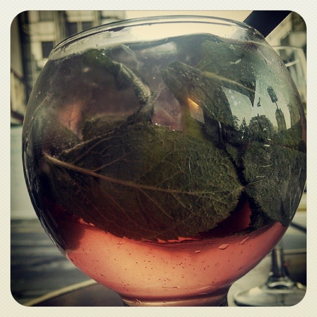 Fresh Rosato - Martini Rosato, mint, tonic #happyhour #springdrinks #GMGStillinParis  (at Carpe Diem Café)