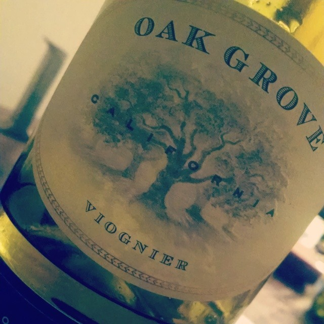 2012 Oak Grove Viognier (CA) All perfume and flowers on the nose. Full bodied on the palate. Drink with rotisserie chicken or creamy pasta #jaifaimjaisoif #wineanddine