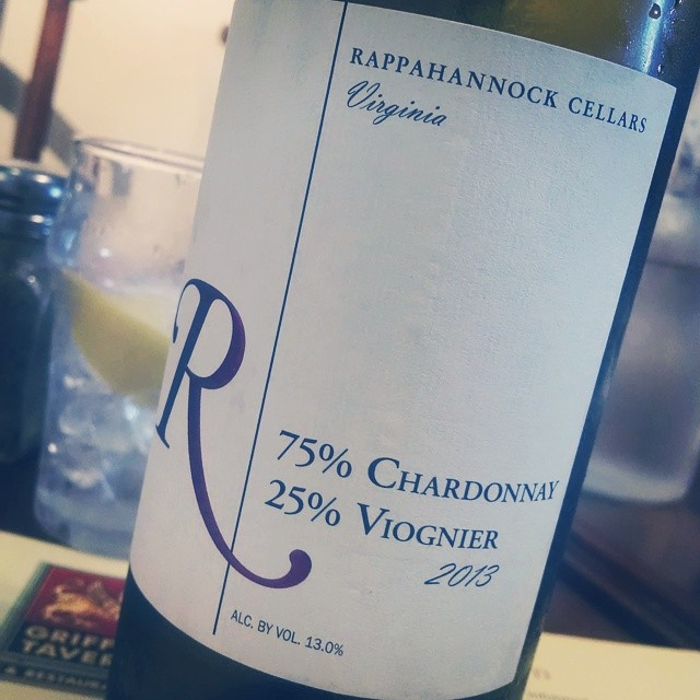 When in VA, drink VA!! Rappahannock Cellars Chardonnay/Viognier blend. Sweeter than I expected but nice flavors of stone fruit w some great acidity. I'm actually drinking this with an omelette #wine #wineanddine #VAWine