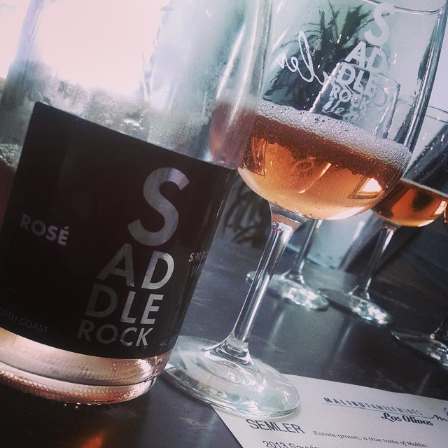 Red fruit, sophisticated & balanced…One for the road #rosè #imnotdriving #blackgirlsgonewine (at Malibu Family Wines Los Olivos Tasting Room)
