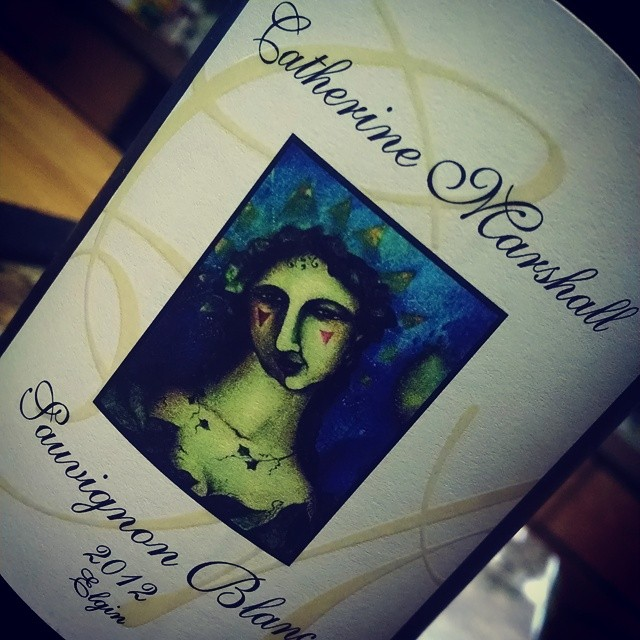 Catherine Marshall Sauvignon Blanc 2012 (South Africa) A sauv blanc I like!!! Y'all don't know how huge this is for me!! Fresh flavors of mango, lime & passion fruit. Crisp acidity with a mineral finish. Pair with white fish or spicy Thai food. Pardon me while I finish this… #wine #winetasting #wineanddine #wineofthesummer #winesofinstagram