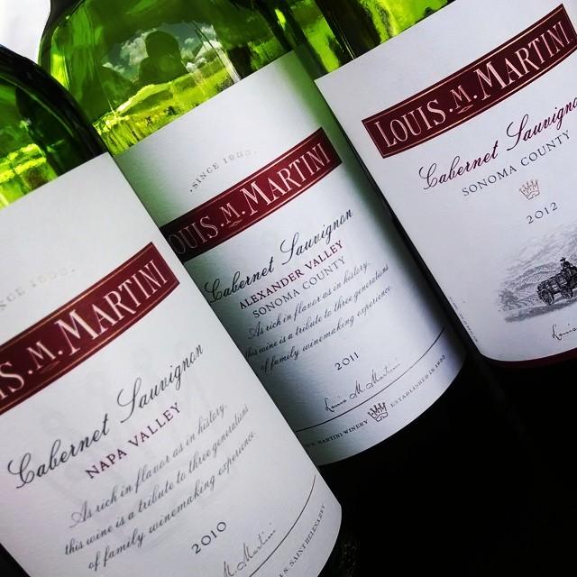 Louis M. Martini Cab Sauvignon tasting… Same grape, diff flavors #tastetysons #CAwine #takeyourpick