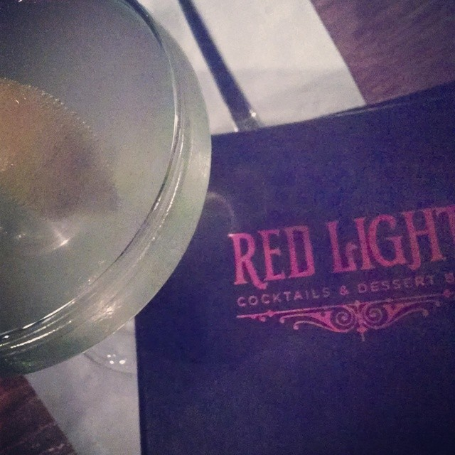 New bar, new drink. #WeDrinkDC Gypsy Eyes #KetelOne, Crème de Violette, lemon liqueur, bubbles  (at Red Light)