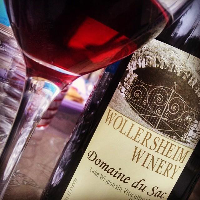 Got my wine, got my friends!! Ready to talk Wisconsin wine with @WollersheimWinery #winestudio  (at Evergreen Park, Illinois)
