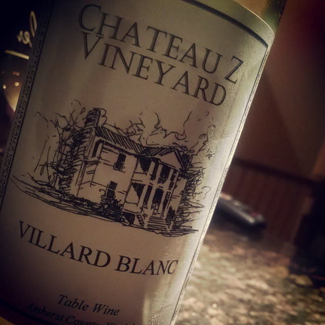 Villard Blanc from Chateau Z Vineyard in VA. A French hybrid grape, similar in flavor to a Chardonnay #vawine #WineDown #wine