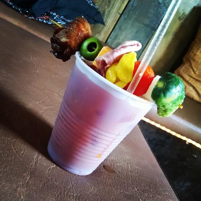 Bloody Mary!! #titos #garnish #SundayFunday #foodtrucksocial #Chicago  (at Food Truck Social)