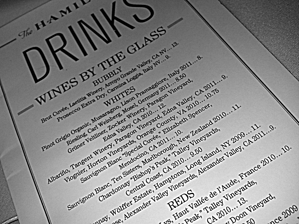 Restaurant Week   You have to love getting a bargain. When that bargain is food or drinks…I'm such a happy camper! That's why I always partake in DC Restaurant Week, RW for short. RW occurs twice a year and restaurant around DC offer a 3-course prix fixe meal, $20.12 for lunch and $35.12 for dinner. I've found some amazing restaurants this way. Places that are normally super expensive are now affordable, I try them, I like them, I go back later and have no problem paying full price.  This year I met my girl and colleague Karima for lunch at The Hamilton. She is so amazing!!! Every time we get together, I leave so inspired and on fire!! Hype!! LOL!! But anyway. I ordered the lobster bisque to start, crab cake with creamed corn for my entree, and peach pie with ice cream & blueberry bourbon sauce. And even though it was lunch and I had to get back to my day job, I wouldn't be Girl Meets Glass if I didn't order something ;-) I had the Albarino. It's creaminess and stone fruit flavors were perfect with the crab cake. I love its fruit-sweet, not sugar-sweet flavor. I'm telling you Albarino is so underrated.   All in all, a great lunch. Because it tasted delicious…yeah, but more importantly, because I needed a nap after!!