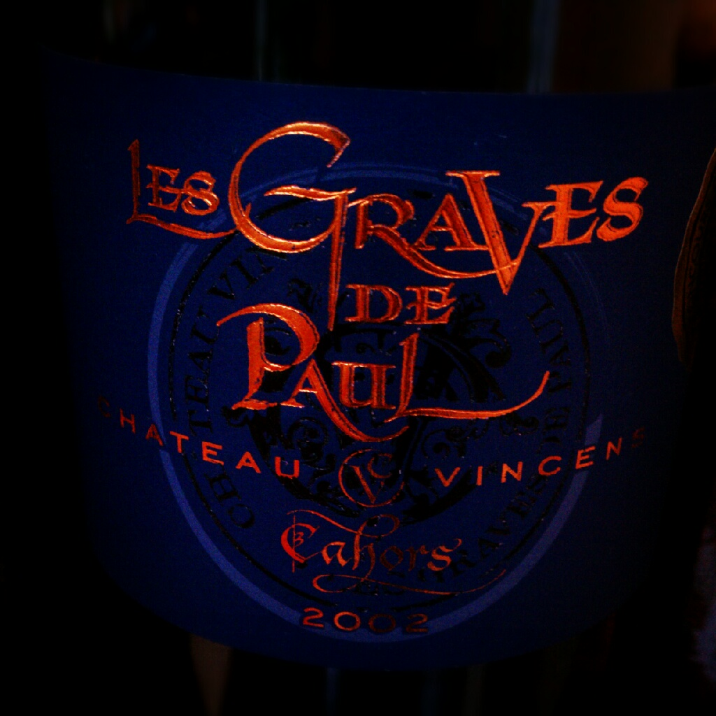 myvinespot :      Château Vincens 'Les Graves de Paul' 2002 Cahors (Malbec): Inviting dark fruit core with underlying red streaks, anise, and hints of savory herbs and spice. Overall, this is tasty and expressive juice that's holding up well that we're about to enjoy with duck. Cheers!   ‎#  Cahors       ‎#  Southwest       ‎#  France