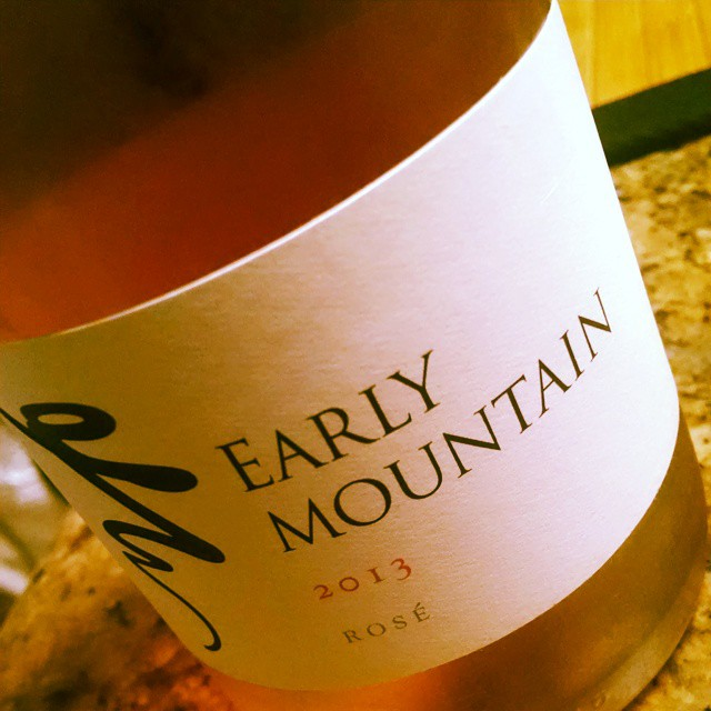 Yes way Rosé!! #EarlyMountain #VAwine Thankx @jadefloyddc 😀