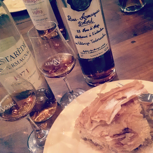 This is how you dessert #armagnac #wineanddine #betterwithage #croustade #jaifaimjaisoif