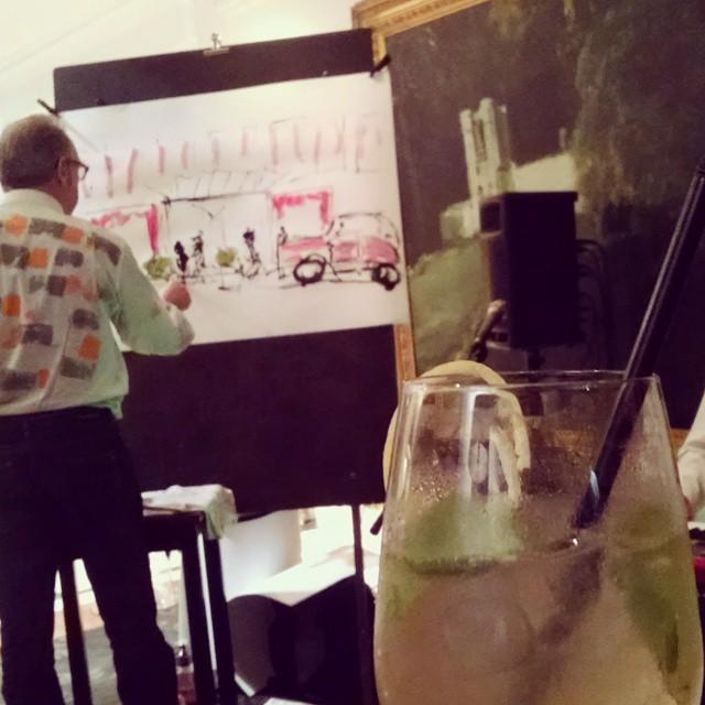 Art, drinks, music #French52 #52Martinis #RenLeParc
