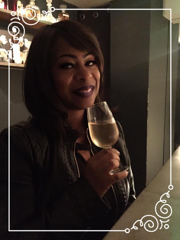 Of course I'm smiling, I'm drinking Champagne!!