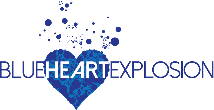 Blue Heart Explosion