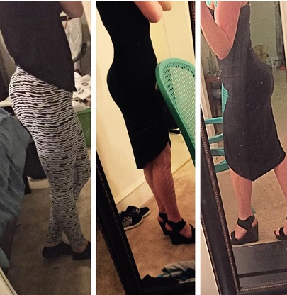 """Progress pics! After Build A Bumba Booty 1&2 plus Build A Bumba Body. Thanks for helping the booty grow! #buildabumbabooty""-Laura J."