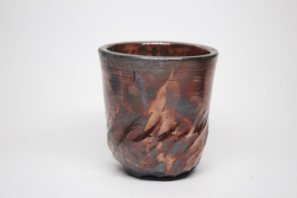 Horn_Copper Vase_RakuedStoneware_7inches tall.jpg