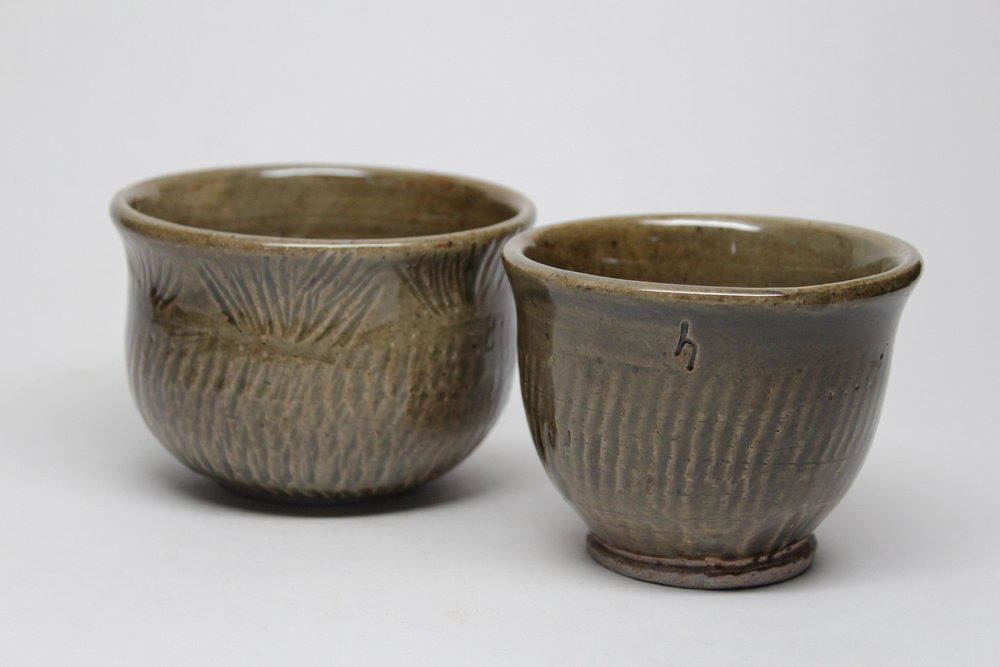Horn_Planter Duo_Thrown Stoneware_4 inches tall.jpg