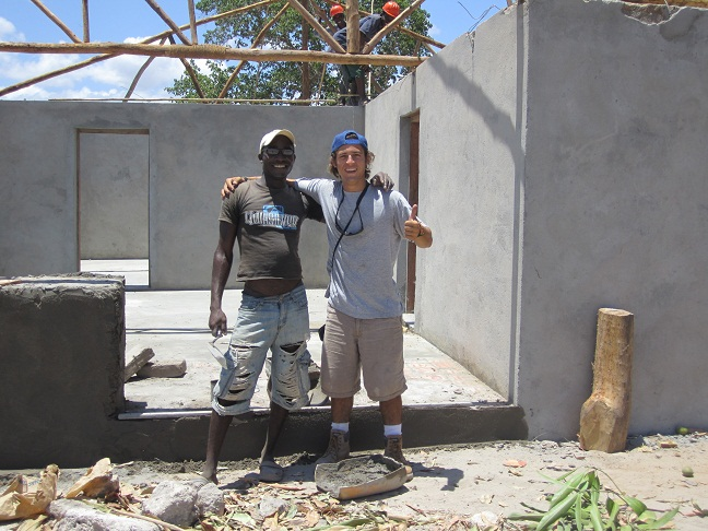 Introducing Jesse Pavlick, Nema's Project Manager for the building of this, the first of several Community Health Posts. Jesse and his foreman, Abacar, are going great guns, all the masonry work is now done and the carpenters are working hard to put up the roof before the rains.  We want to say a very heart felt thank you to Global Angels who have funded this project and been so patient when the start of construction had to be delayed.