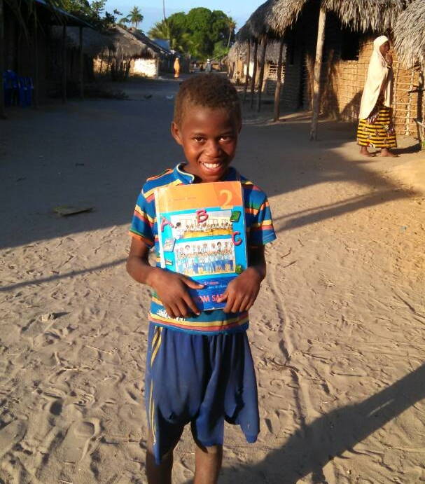 Cheia Momade on his way back from Guludo Primary School