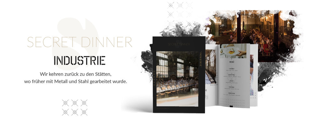 SECRET DINNER Catering Broschüre Industrie
