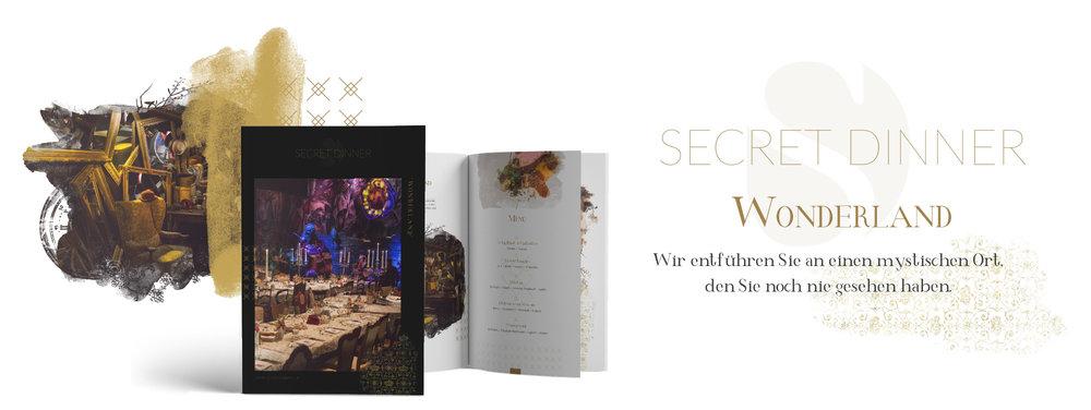 SECRET DINNER Catering Broschüre Wonderland