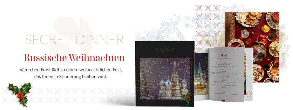 SECRET DINNER Catering Broschüre Russische Weihnachten