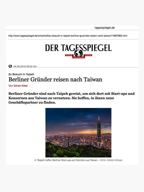 Der Tagesspiegel (German), 04.06.2015  → READ