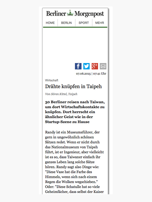 Berliner Morgenpost (German), 07.06.2015  → READ