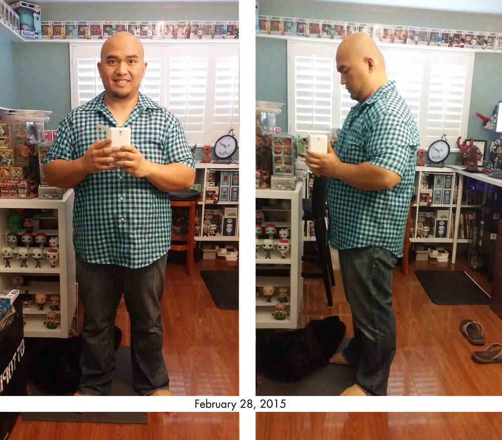 This is the same shirt I am wearing in the main blog page header image. You might not be able to tell directly from the image, but this shirt is quite lose on me now compared to the photo taken in the main blog page almost a year ago.