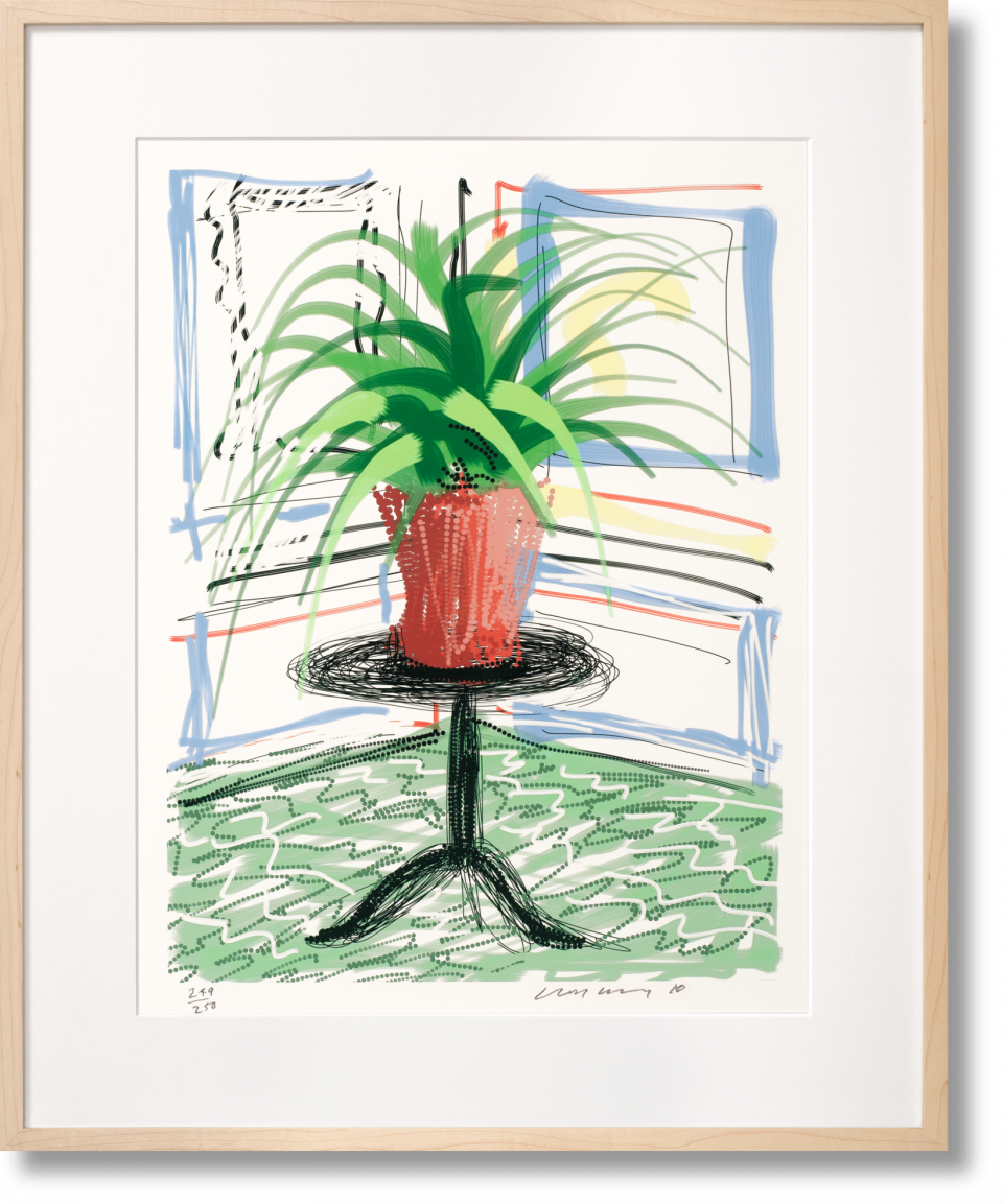 Untitled 468, iPad painting by Hockney available as part of the Collector's Edition of only 250. Priced at £5,250.