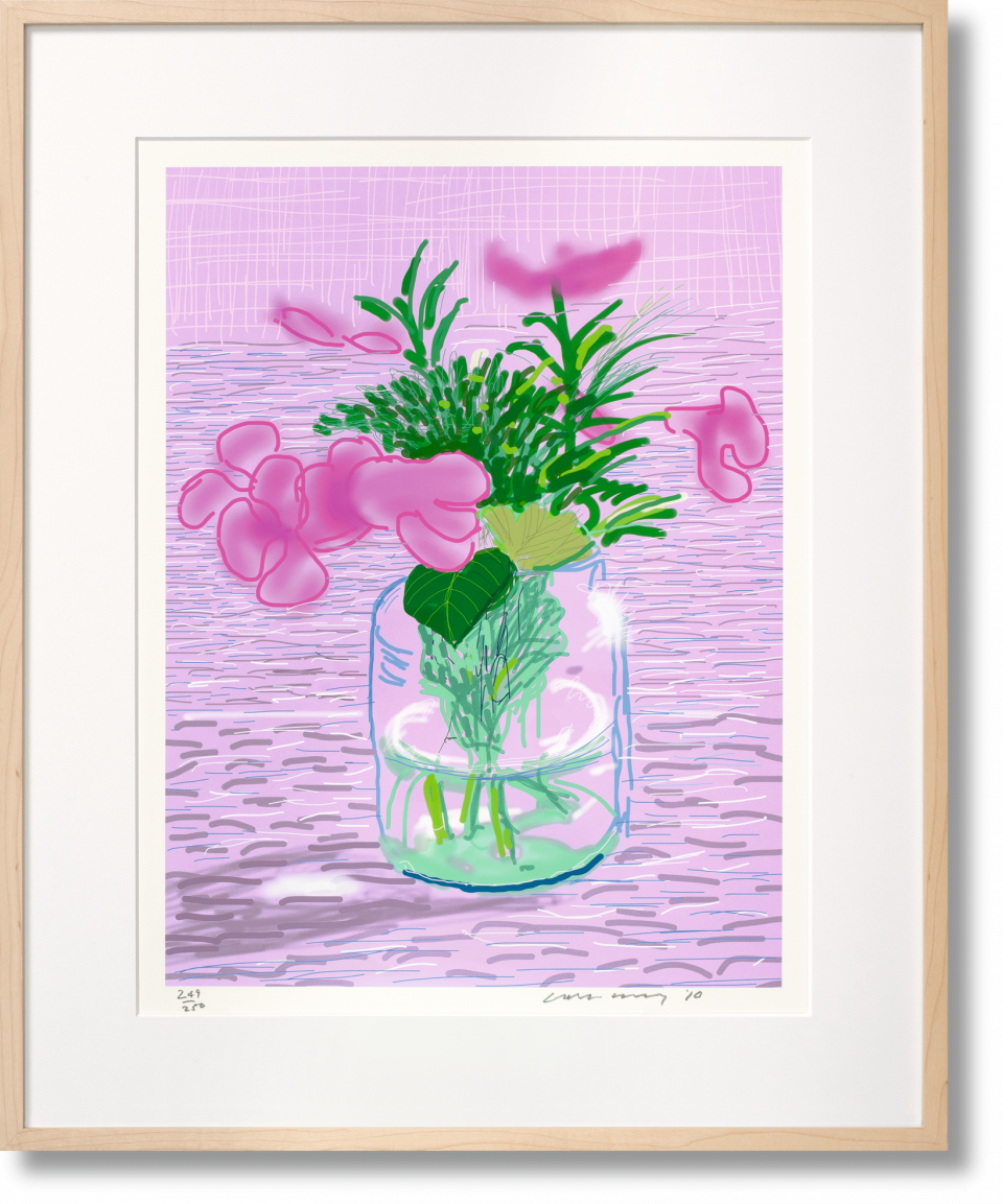 Untitled 329 by Hockney, 1 of 4 collectable art editions available.