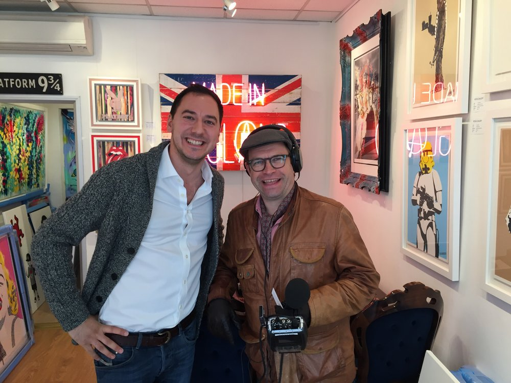 Presenter Joe Talbot enjoying his surroundings at the warmth and Reem Gallery