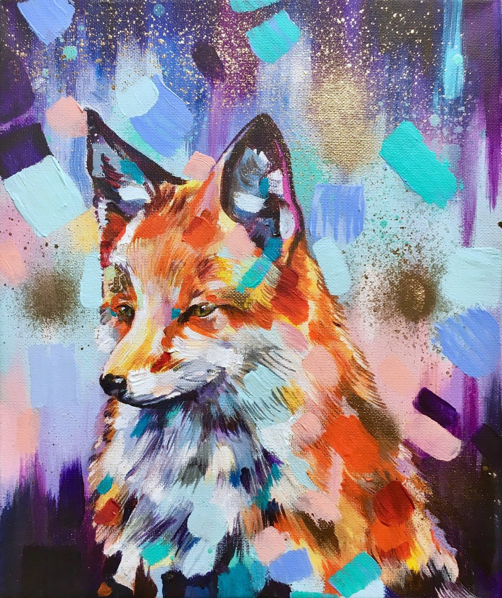 Affordable Original Art  We have a broad range of original artworks available under £500 fresh in from our artist studios; including this distinctive fox titled 'Moon Messenger' by  Sian Storey  at £160.   View a  rtwork under £500