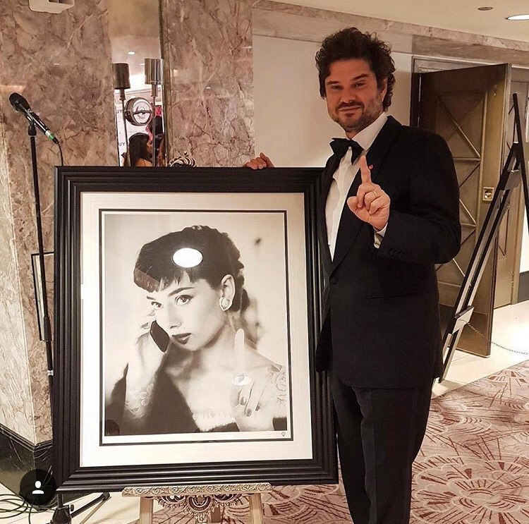 Luca Dotti, the son of Audrey Hepburn, with a recent piece by JJ Adams