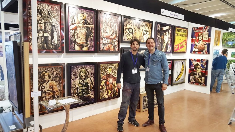 Reem Gallery and Rob Bishop at Surrey Contemporary Art Fair 2019 [1].jpeg