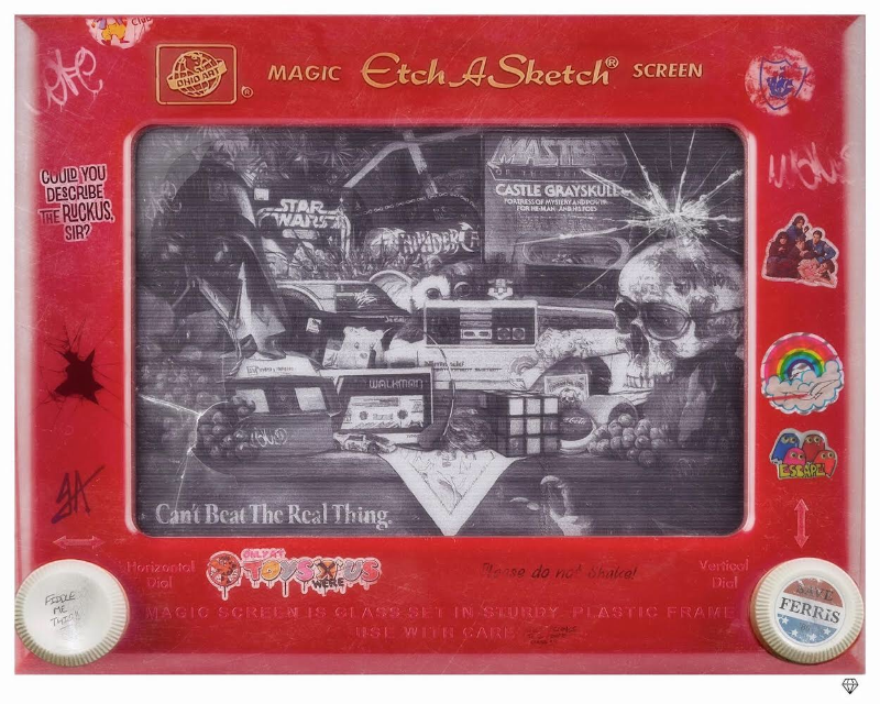 One lucky winner from the 19080's mixtape giveaway will receive the exclusive 'EtchASketch: Still Life' artwork by JJ Adams!
