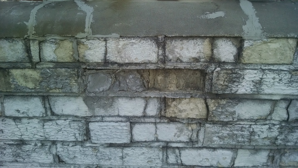 Broken chimney brick