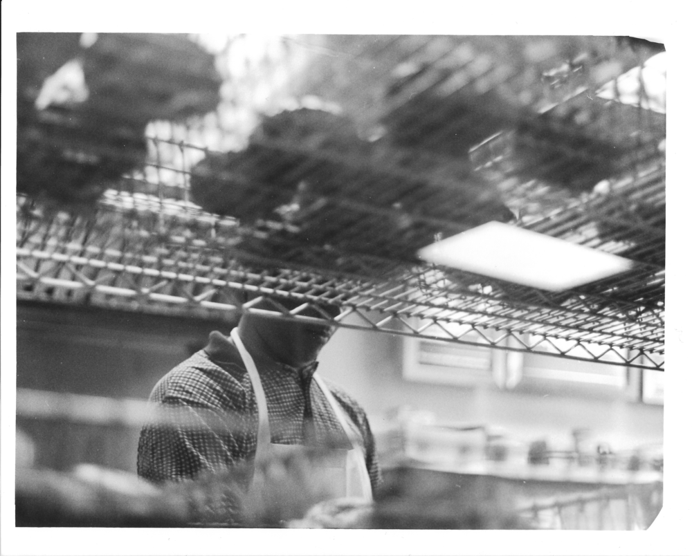 "Tara Jean.  The Baker.  35 mm B/W Photograph. 8"" x 10"""