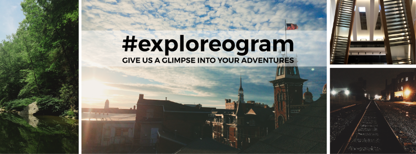 "Check out info for our May/June exhibit/Instagram contest, ""#exploreogram""!"