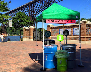 A Zero to Go waste tent at Poughkeepsie's Community Day Celebration in August 2015. Photo courtesy of Zero to Go.