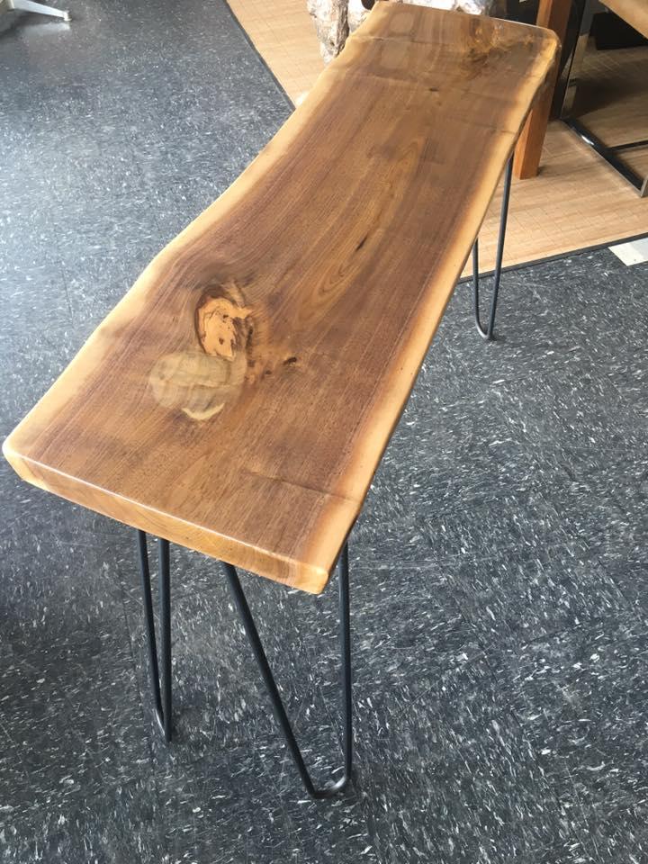Walnut Slab Console Table